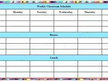 15 Standard Class Timetable Template Word Maker with Class Timetable Template Word