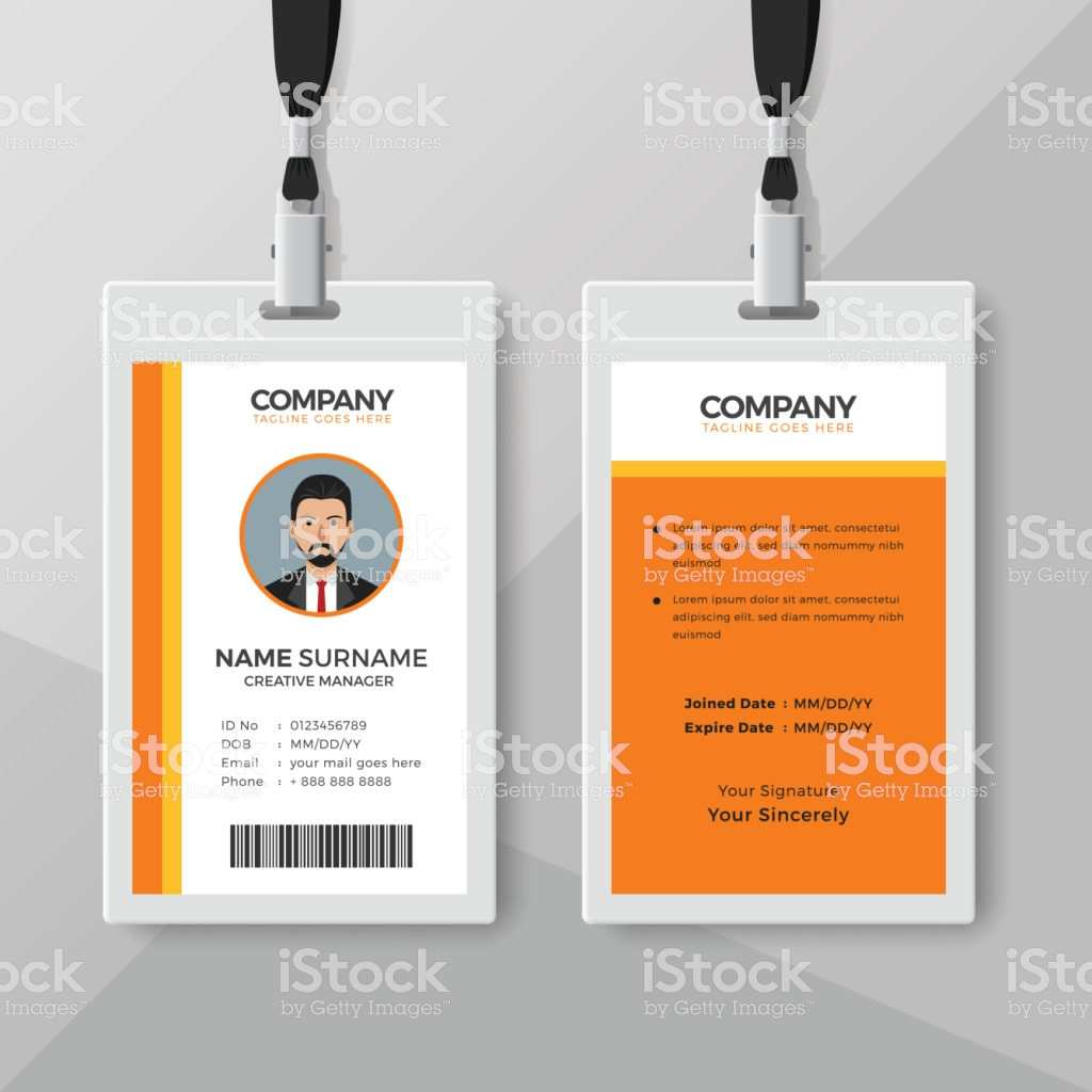 15 Standard Orange Id Card Template For Free with Orange Id Card Template