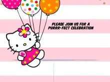 15 Visiting Birthday Invitation Card Template Hello Kitty Layouts for Birthday Invitation Card Template Hello Kitty
