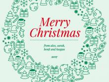 15 Visiting Christmas Card Template Illustrator Free Layouts by Christmas Card Template Illustrator Free