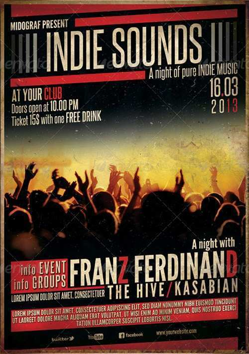 16 Adding Concert Flyer Template for Ms Word by Concert Flyer Template