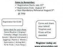 16 Adding School Talent Show Flyer Template Templates by School Talent Show Flyer Template
