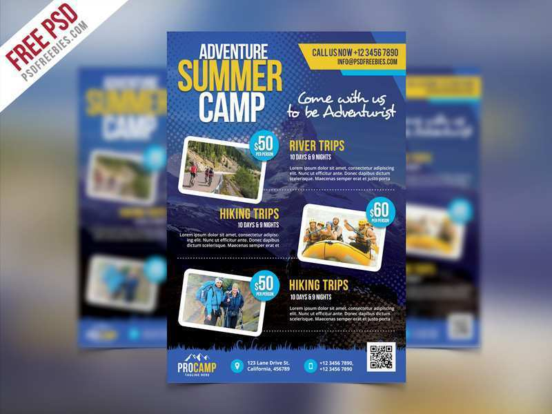 16 Best Camp Flyer Template With Stunning Design for Camp Flyer Template