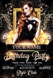 16 Blank Birthday Party Flyer Templates Free For Free with Birthday Party Flyer Templates Free