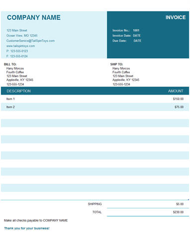 16 Creative Basic Personal Invoice Template Maker with Basic Personal Invoice Template