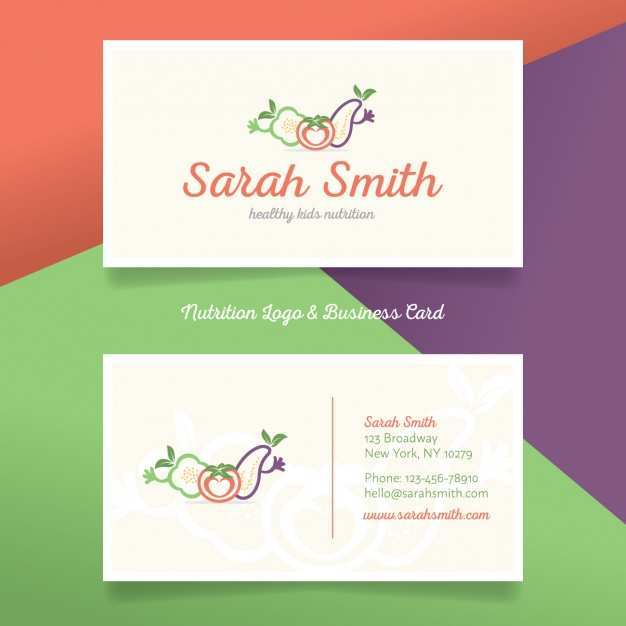 16 Creative Business Card Template Dietitian For Free with Business Card Template Dietitian