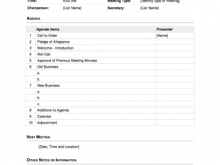 Virtual Meeting Agenda Template
