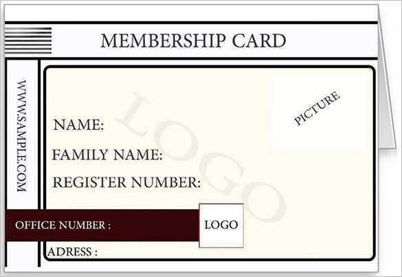 It is a picture of Printable Membership Cards inside emergency contact