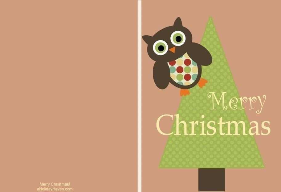Merry Christmas Card Template Printable - Cards Design ...