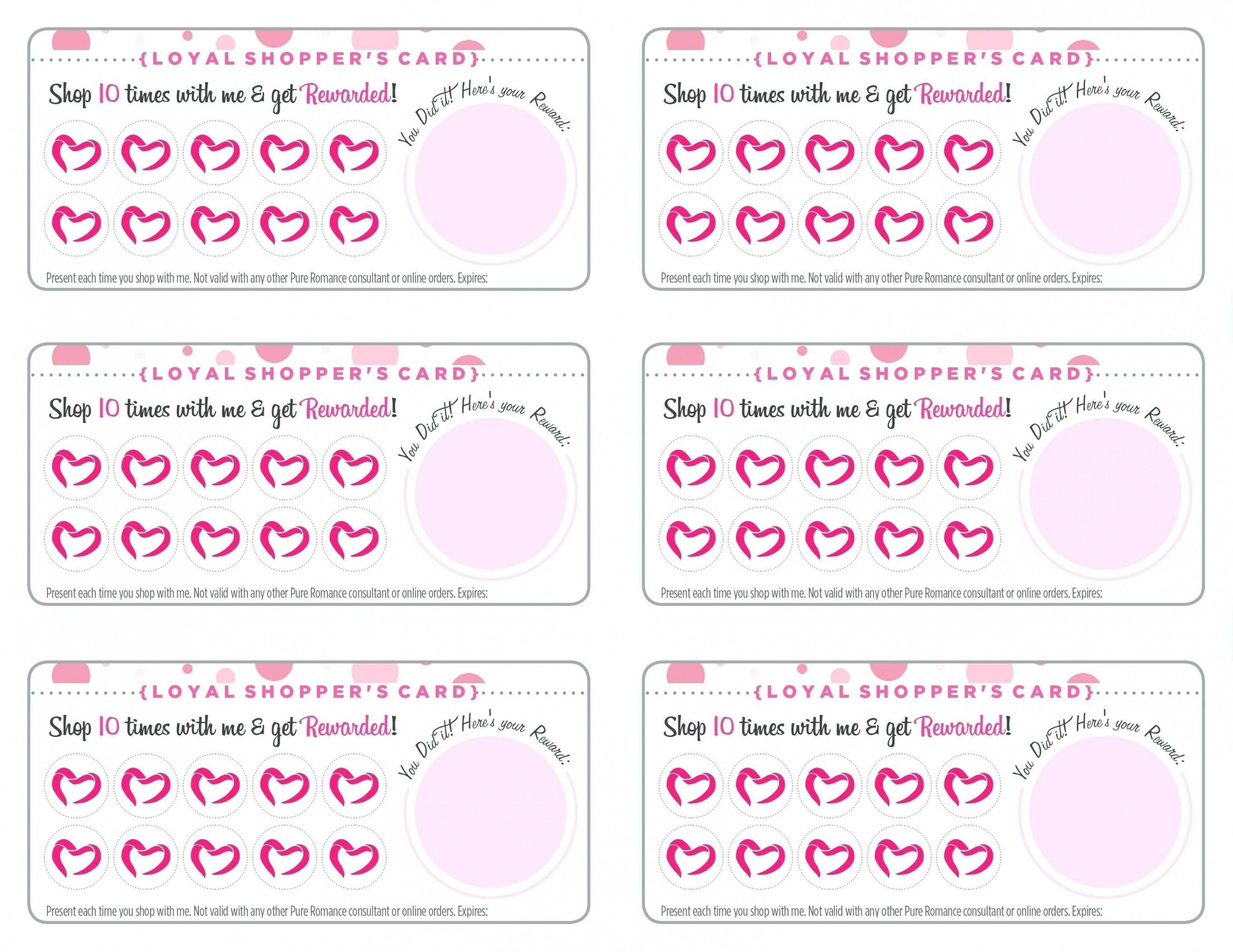 21 Format Free Printable Loyalty Card Template Maker by Free Within Customer Loyalty Card Template Free