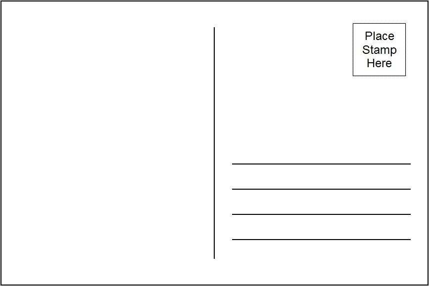Postcard Template On Google Docs
