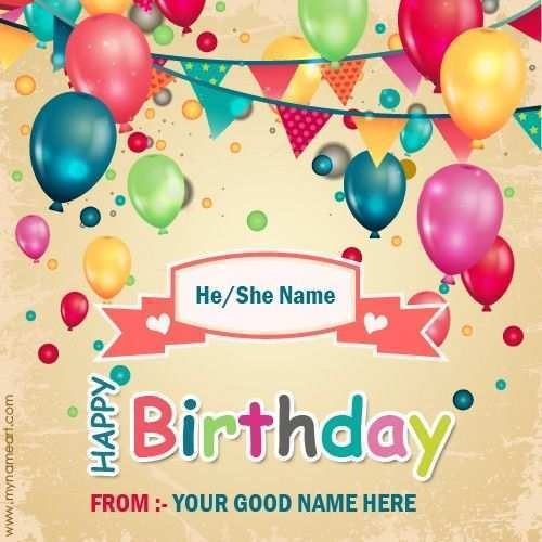 Tremendous 16 Free Birthday Card Maker Name With Stunning Design With Personalised Birthday Cards Akebfashionlily Jamesorg