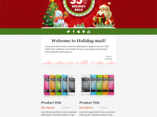 16 Free Christmas Card Template For Mailchimp Photo with Christmas Card Template For Mailchimp