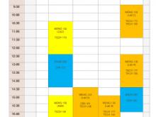 Class Schedule Template Online