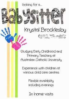 16 Free Printable Babysitting Flyer Free Template Formating by Babysitting Flyer Free Template