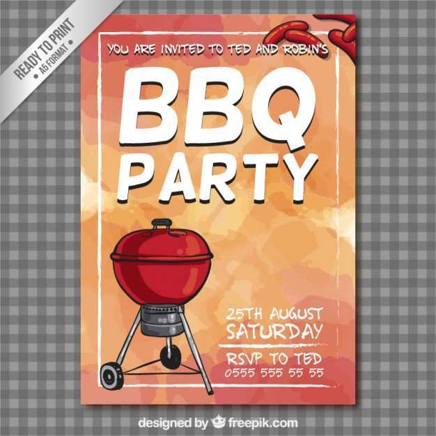 16 Free Printable Barbecue Bbq Party Flyer Template Free in Photoshop by Barbecue Bbq Party Flyer Template Free