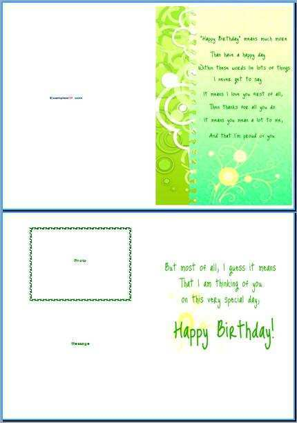 16 Free Word Template Card Birthday for Ms Word for Word Template Card Birthday