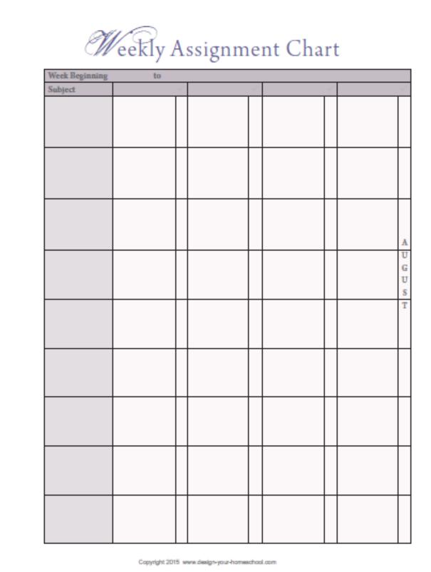 Weekly Homeschool Schedule Template from legaldbol.com