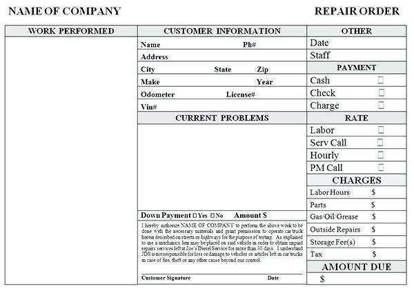 16 The Best Auto Garage Invoice Template Now by Auto Garage Invoice Template