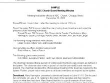 16 The Best Church Council Agenda Template Download with Church Council Agenda Template