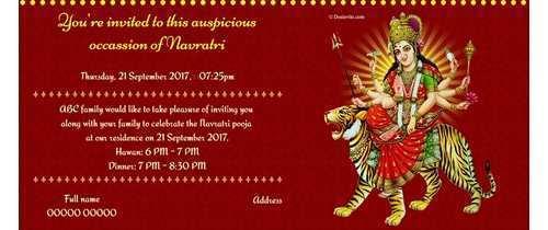 16 The Best Navratri Invitation Card Format In Hindi Maker for Navratri Invitation Card Format In Hindi