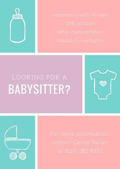 16 Visiting Babysitting Flyer Free Template in Photoshop with Babysitting Flyer Free Template