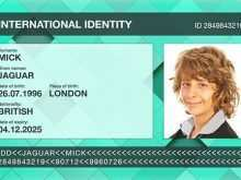British Id Card Template
