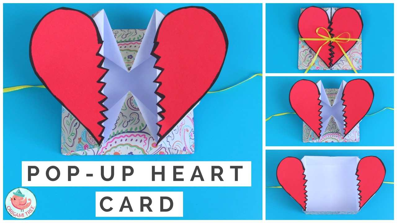 17 Adding Pop Up Card Tutorial Heart For Free for Pop Up Card Tutorial Heart