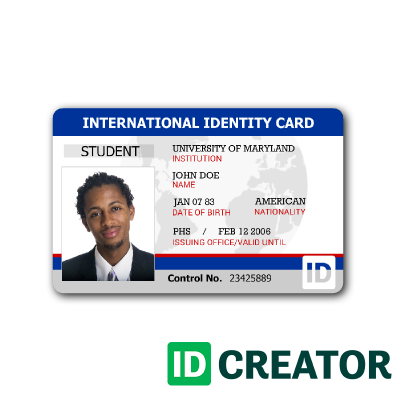 17 American Id Card Template Maker with American Id Card Template