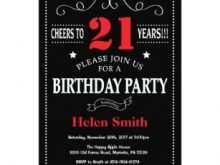 17 Best 21St Birthday Card Invitation Templates Templates by 21St Birthday Card Invitation Templates