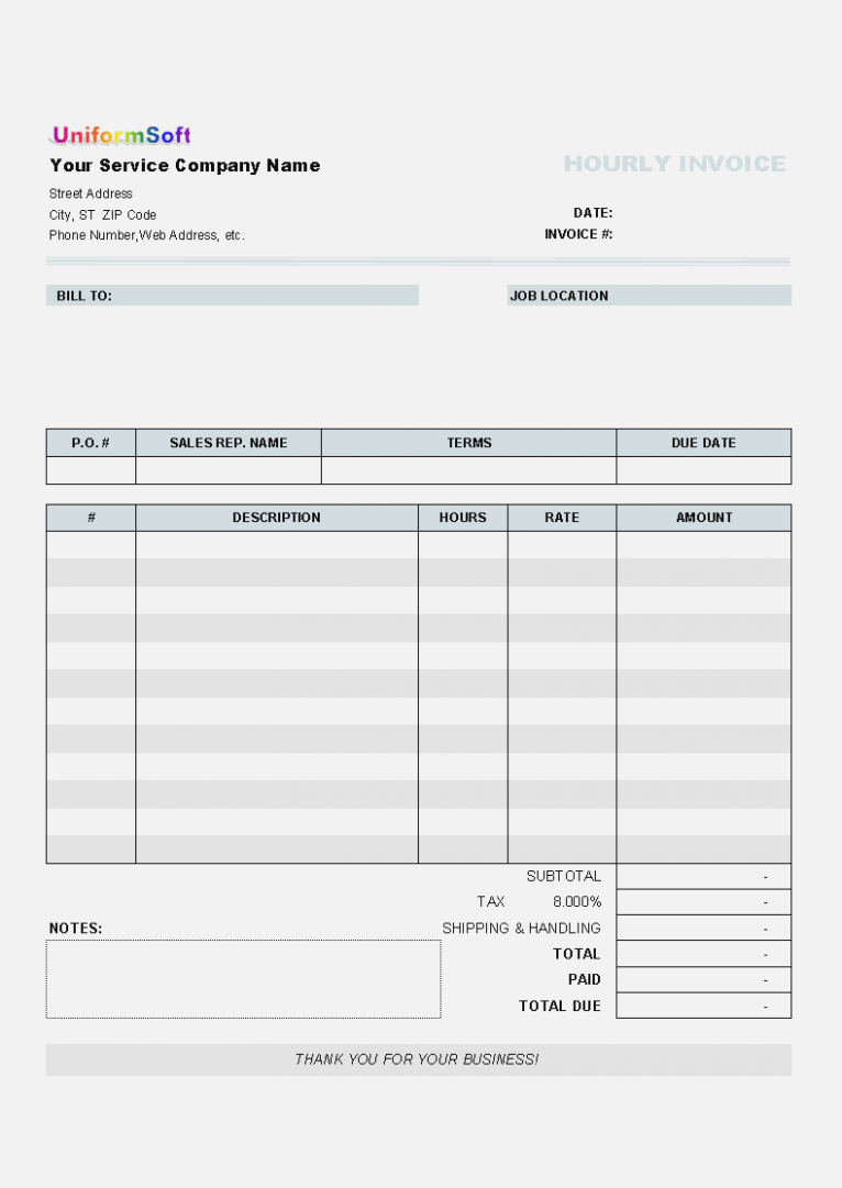 Blank Invoice Template For Microsoft Word from legaldbol.com