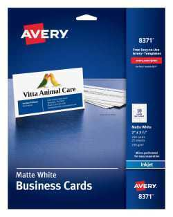 17 Blank Avery Inkjet Business Card 8377 Template in Photoshop with Avery Inkjet Business Card 8377 Template