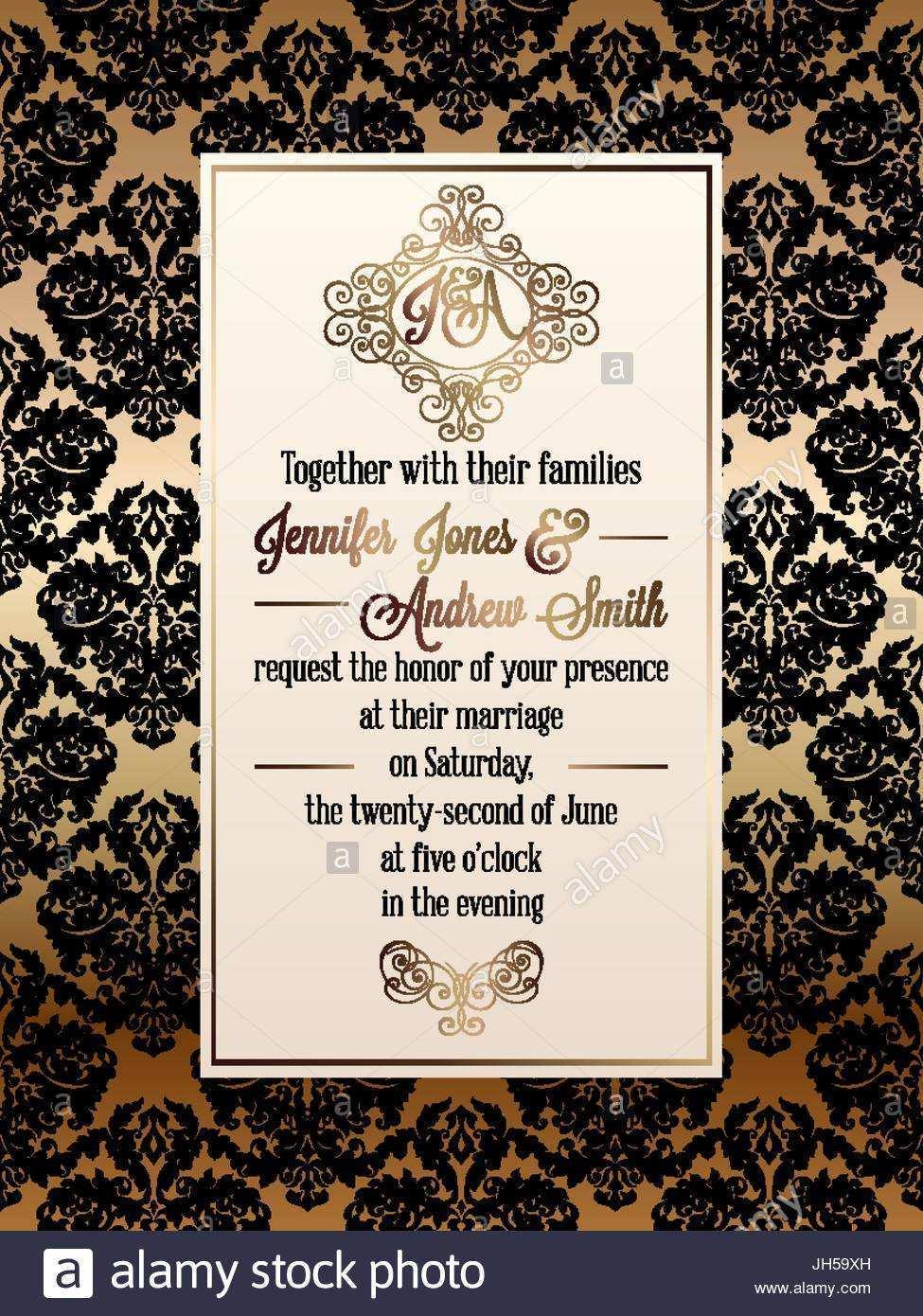 17 Customize Invitation Card Template Vintage Maker with Invitation Card Template Vintage