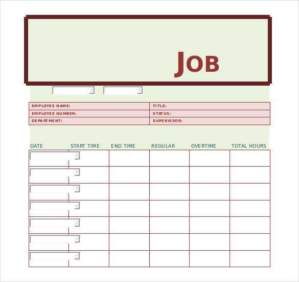 17 Format Job Card Template Word Download by Job Card ...