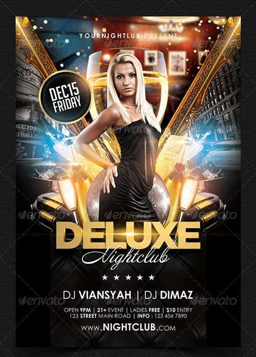 17 Online Club Flyer Templates Free Download PSD File by Club Flyer Templates Free Download