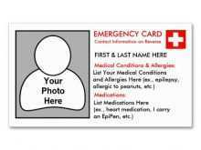17 Online Emergency Id Card Template With Stunning Design with Emergency Id Card Template