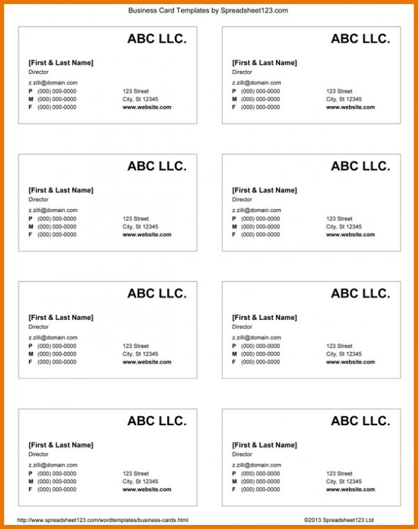17 Report Business Card Templates Doc Formating with Business Card Templates Doc