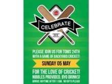 Cricket Birthday Card Template