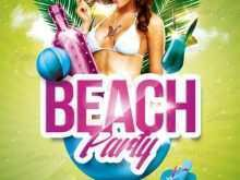 17 Standard Beach Party Flyer Template With Stunning Design with Beach Party Flyer Template