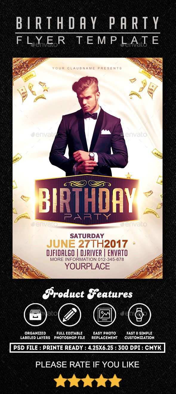 17 Standard Birthday Flyer Template Psd for Ms Word with Birthday Flyer Template Psd