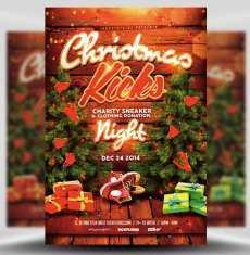 17 Standard Christmas Flyer Templates PSD File with Christmas Flyer Templates