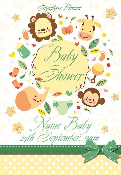 17 The Best Baby Shower Flyer Templates Free With Stunning Design with Baby Shower Flyer Templates Free