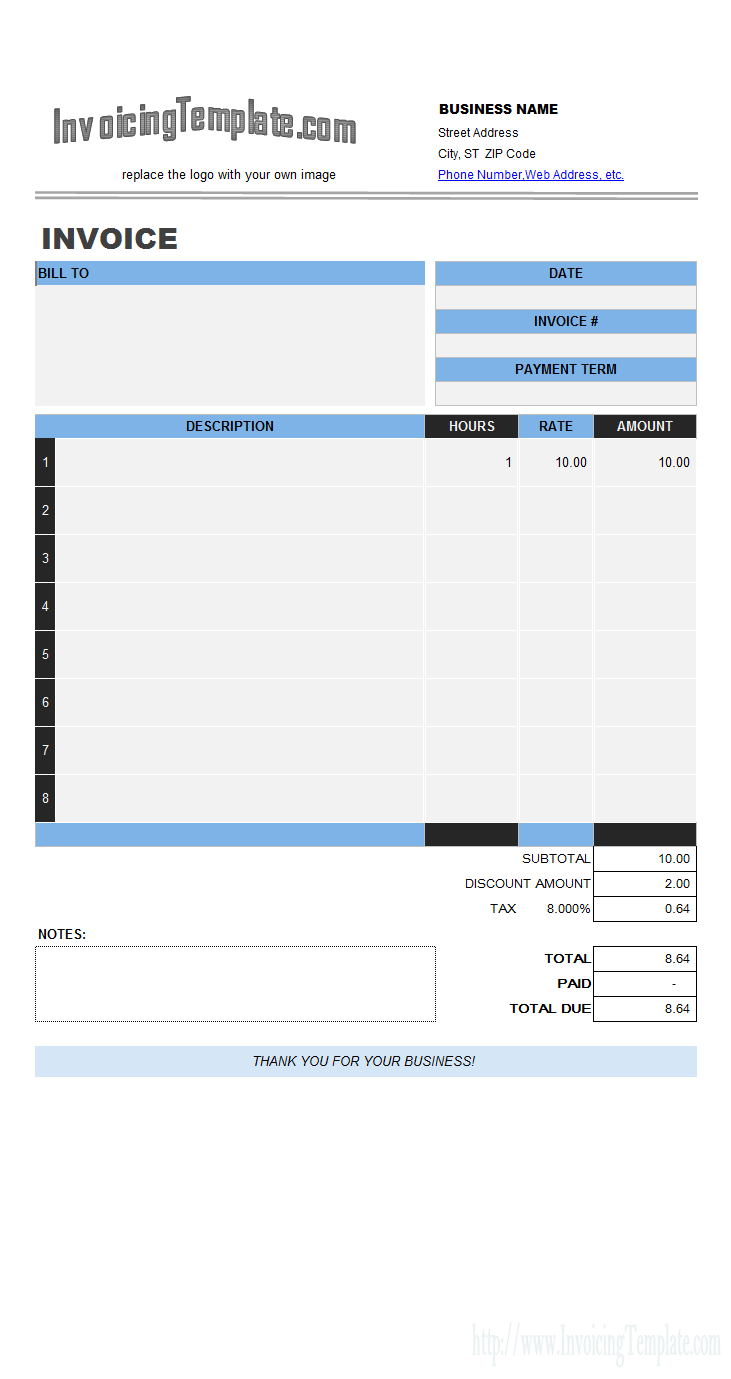 18 Blank Basic Labor Invoice Template For Free by Basic Labor Invoice Template