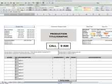 18 Blank Production Shooting Schedule Template for Ms Word by Production Shooting Schedule Template