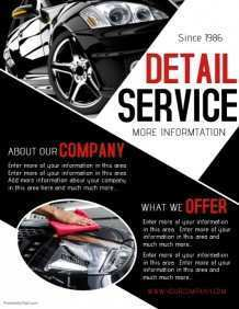 18 Creating Car Detailing Flyer Template Photo with Car Detailing Flyer Template