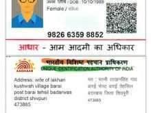 18 Creative Aadhar Card Template Download For Free for Aadhar Card Template Download