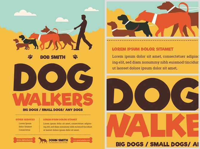 Free Dog Walking Flyer Template from legaldbol.com