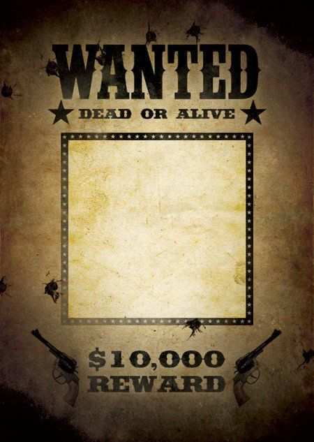 18 Format Wanted Flyer Template in Photoshop with Wanted Flyer Template