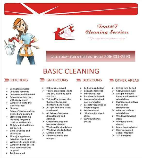 18 Free House Cleaning Flyer Templates For Free For House Cleaning