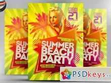 18 Free Printable Beach Party Flyer Template Free Psd Formating for Beach Party Flyer Template Free Psd